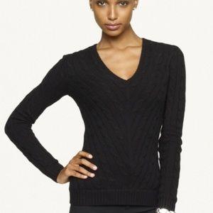 Ralph Lauren Black Label V Neck Cashmere Sweater